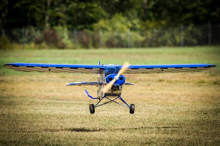 Piper Cub Landing
