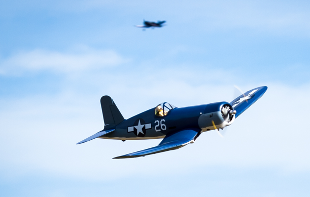 Northern Aces Two Corsairs In Flight