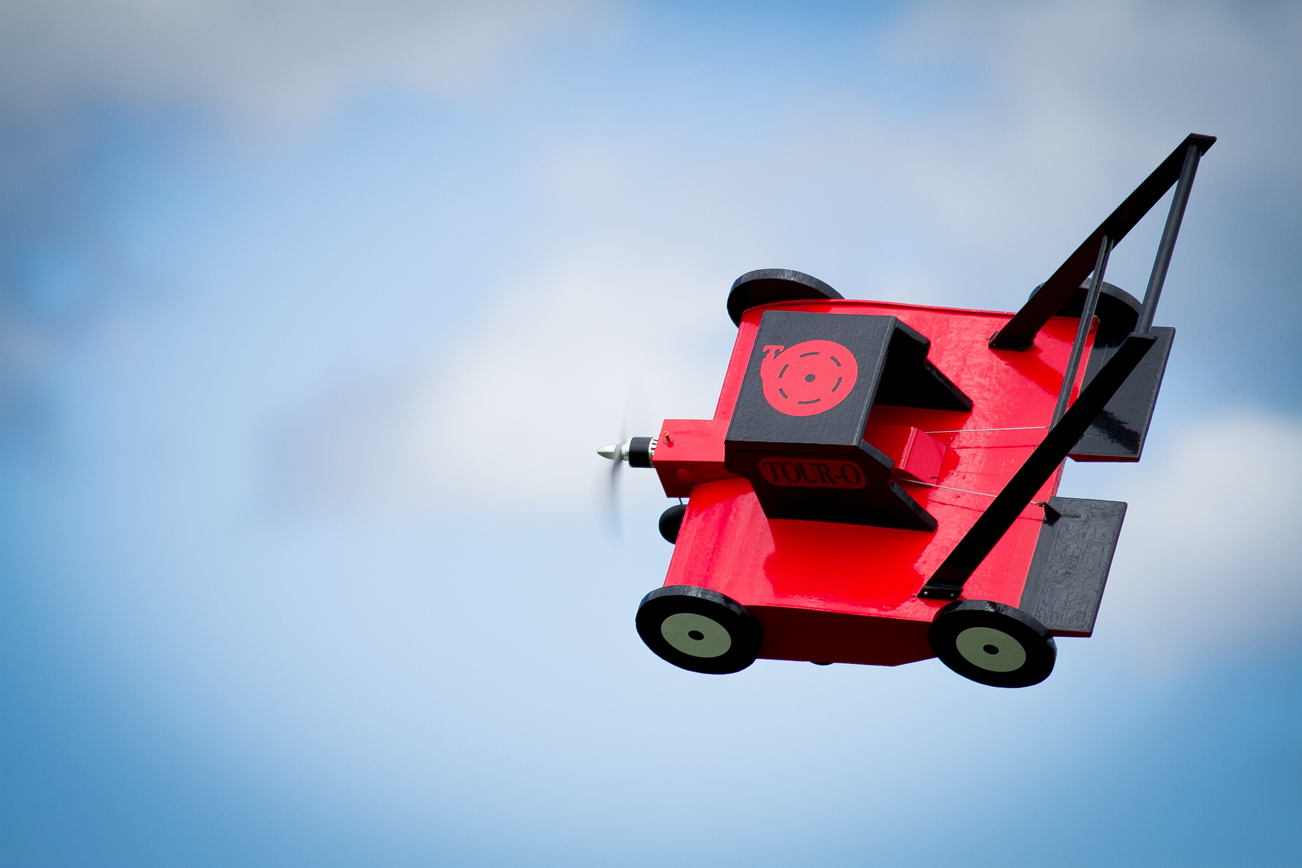 Flying Lawnmower In Flight