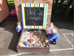 New Sandpit and Benches for the Playground