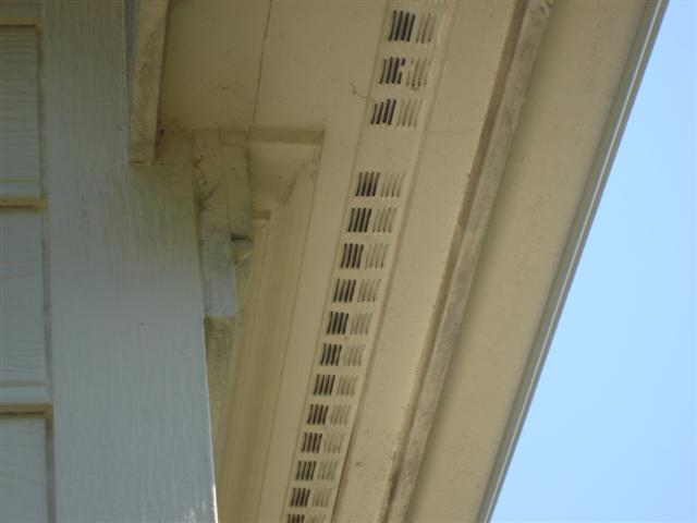 Soffit Painting - Before