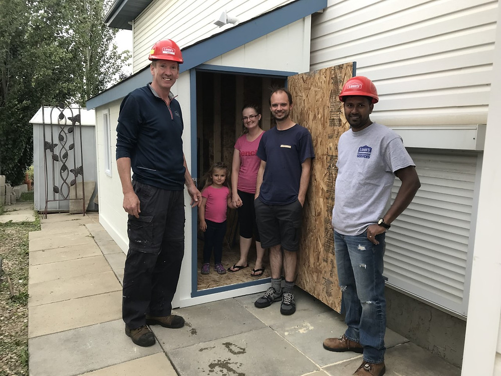 The Sidekicks Mentoring dream shed build