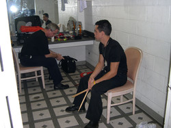 Green room Panama City before the show_