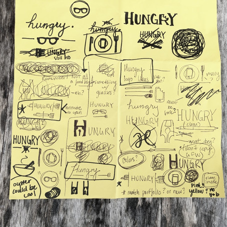 A Logo Creative Process for the Hungry Blog