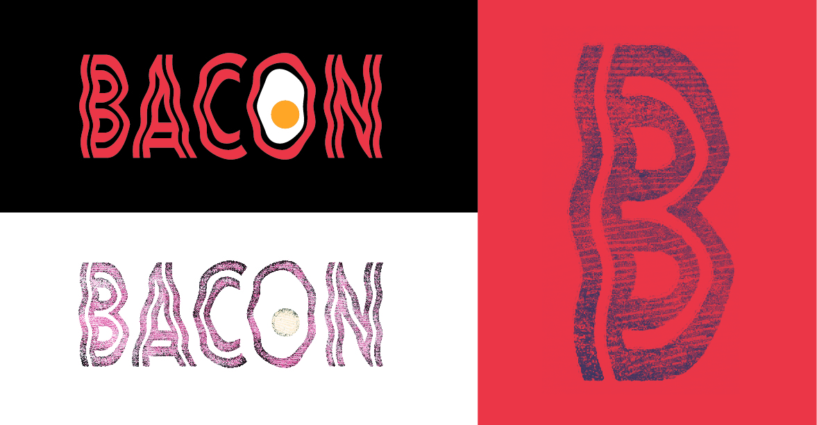 Bacon Typographical Logo