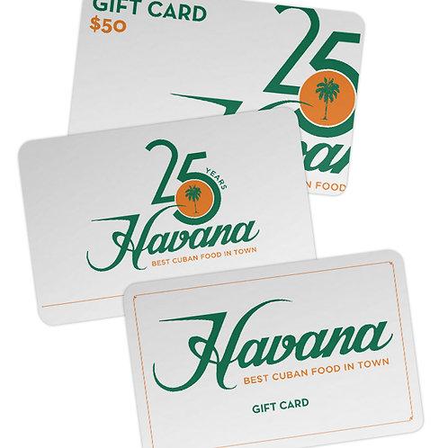 Havana Gift Cards