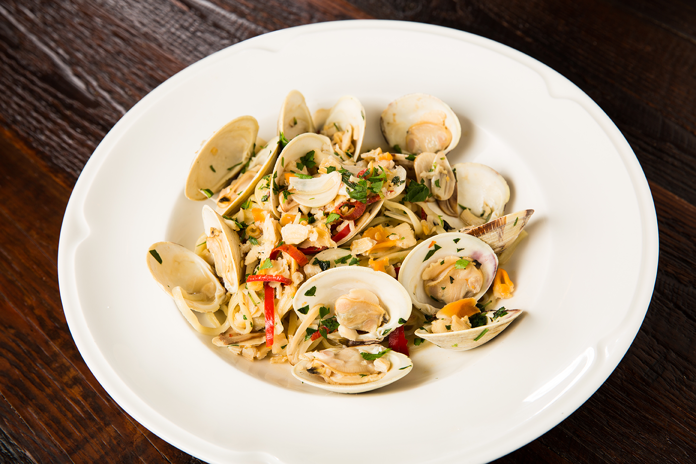 Clam Pasta Dish From Louie Bossi