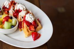 Belgian Waffles With Fresh Fruit