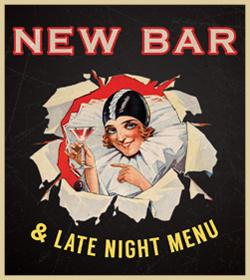 Late night menu