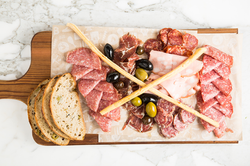 Various Salamis With Bread Appetizer
