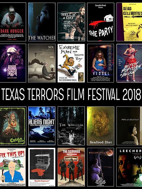 TEXAS TERRORS FILM FESTIVAL 2018 SHOW POSTER