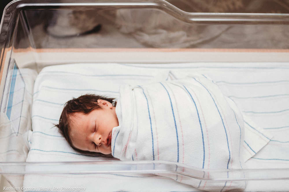 Little baby boy suggled in blanket after first bath Women Clinic Saddleback Memorial Hospital-Doctor Raffo-Bug and Roo Photography-Fresh 48 Photographer-Laguna Hills-Orange County
