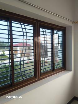 color aluminium sliding windowwith glass