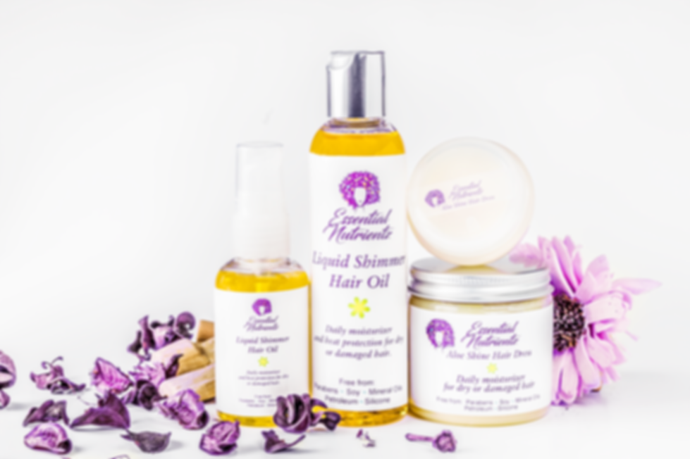 Essential Nutrientz Hair Care is the one stop shop moisture solution your hair has been thirsting for. Devoid of harsh petroleum, silicones, and mineral oils Essential Nutrientz hair products are light weight, and hand made with love.