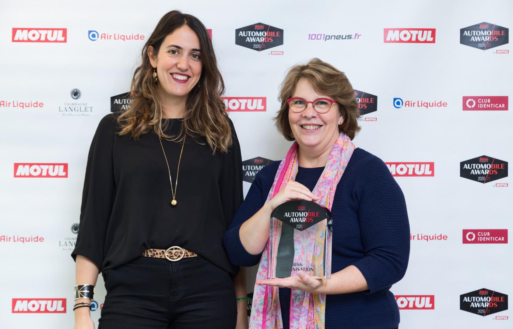 Stéphanie Caramico (Directrice Marketing Goodyear) & Catherine Dumoutier (Responsable Presse Goodyear)
