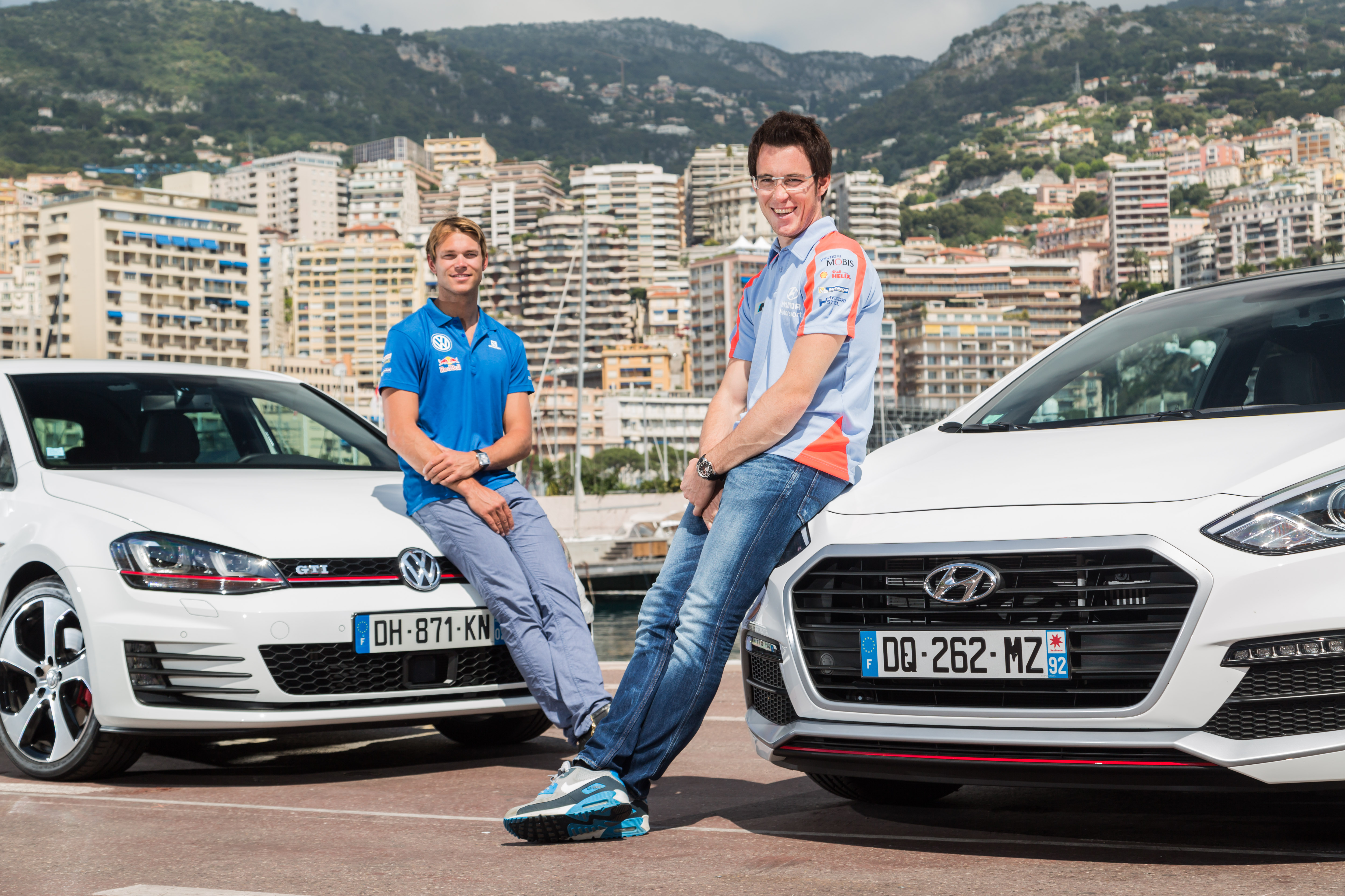 Andreas Mikkelsen et Thierry Neuville