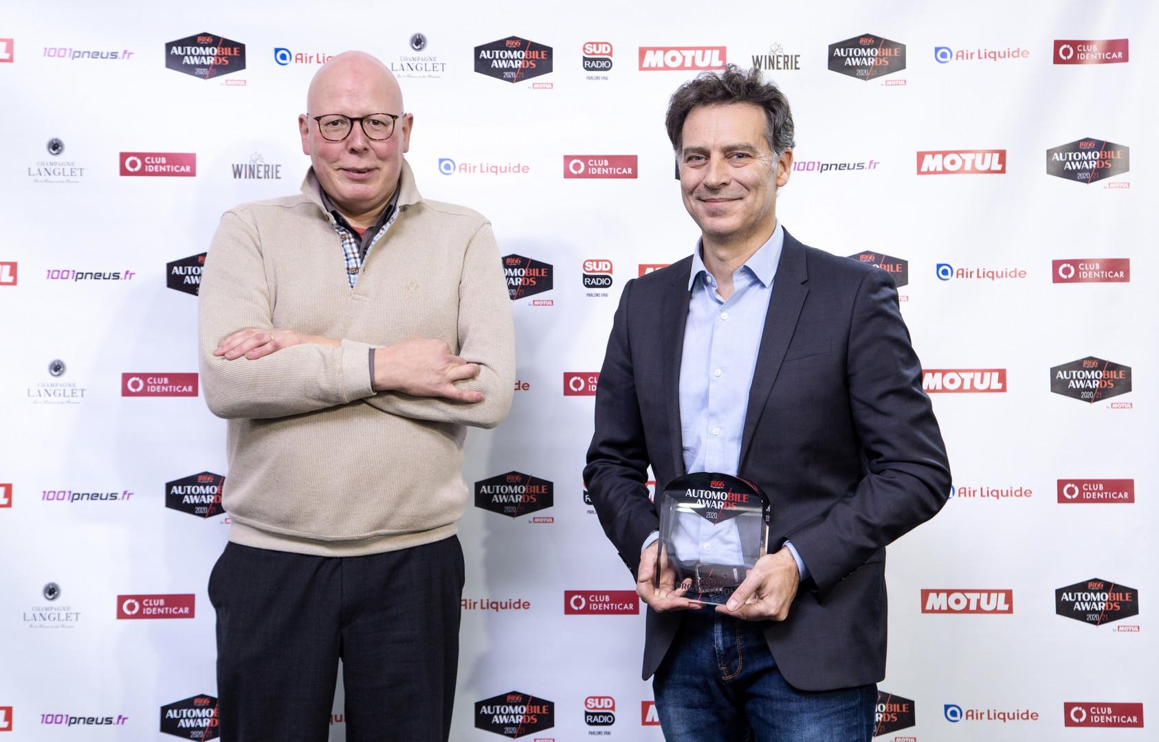 Stéphane Barbé (L'Equipe) & Laurent Blanchet (Directeur Produits Peugeot)