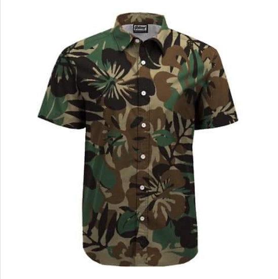M81 woodland hawaiian shirt
