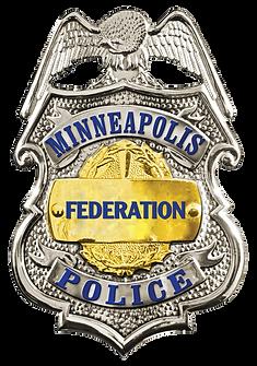 Minneapolis Police Federation badge rHig
