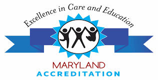 Excelence in Care and education Badge - Mayland Accreditation