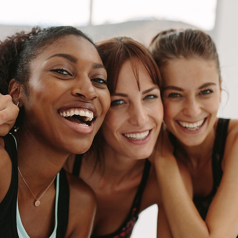 All Around Adult Fitness: Smiling women featuring health, fitness, wellness and diversity.