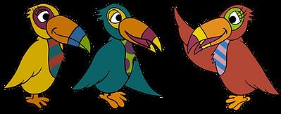 Toddler & Talking Toucans Mascot