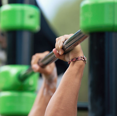 Ninja Nation & Karate: Close up of male hands gripping a pull up bar.