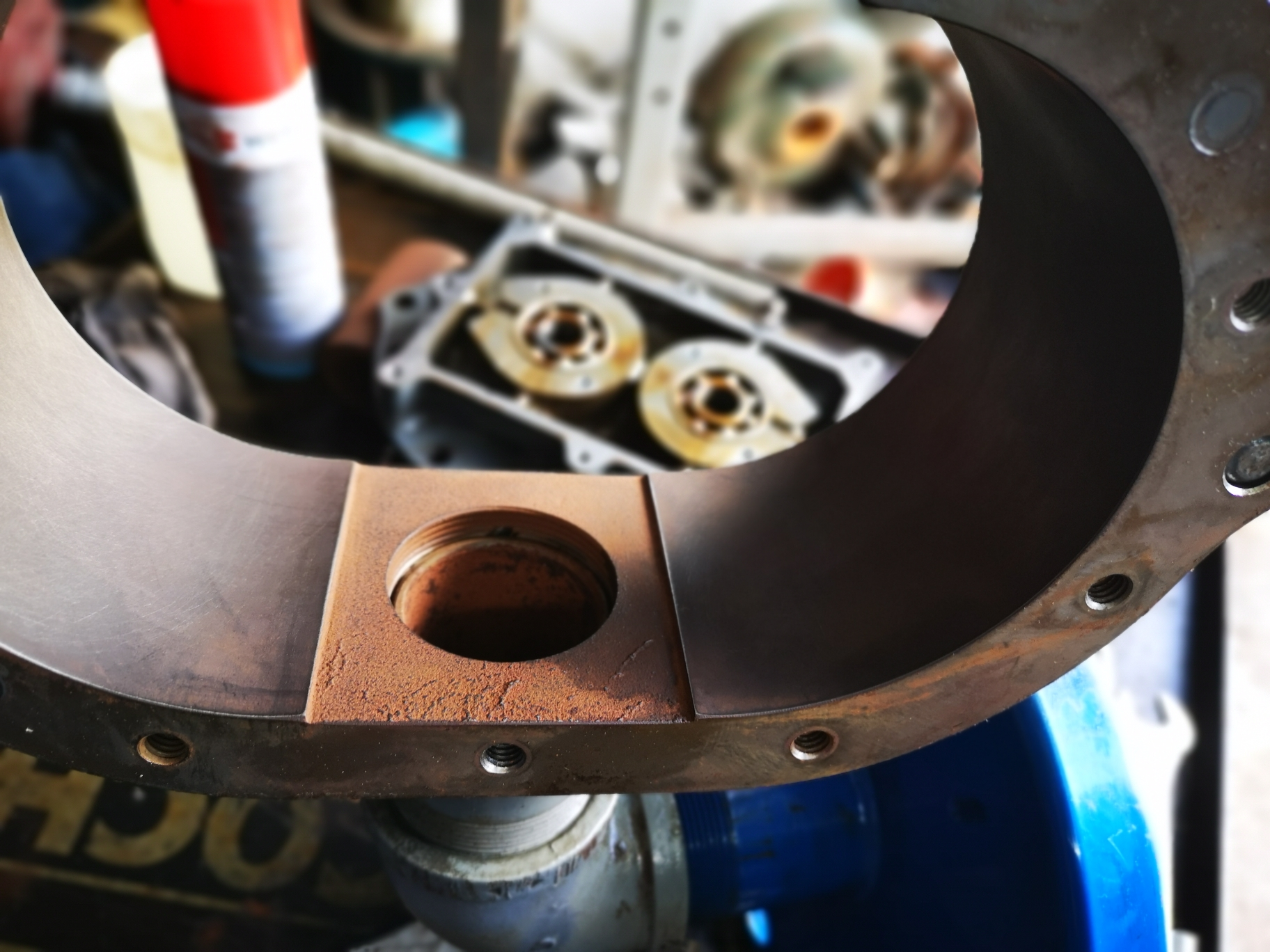 Reparación de soplador - Mantenimiento PTAR´s ACP Gatún