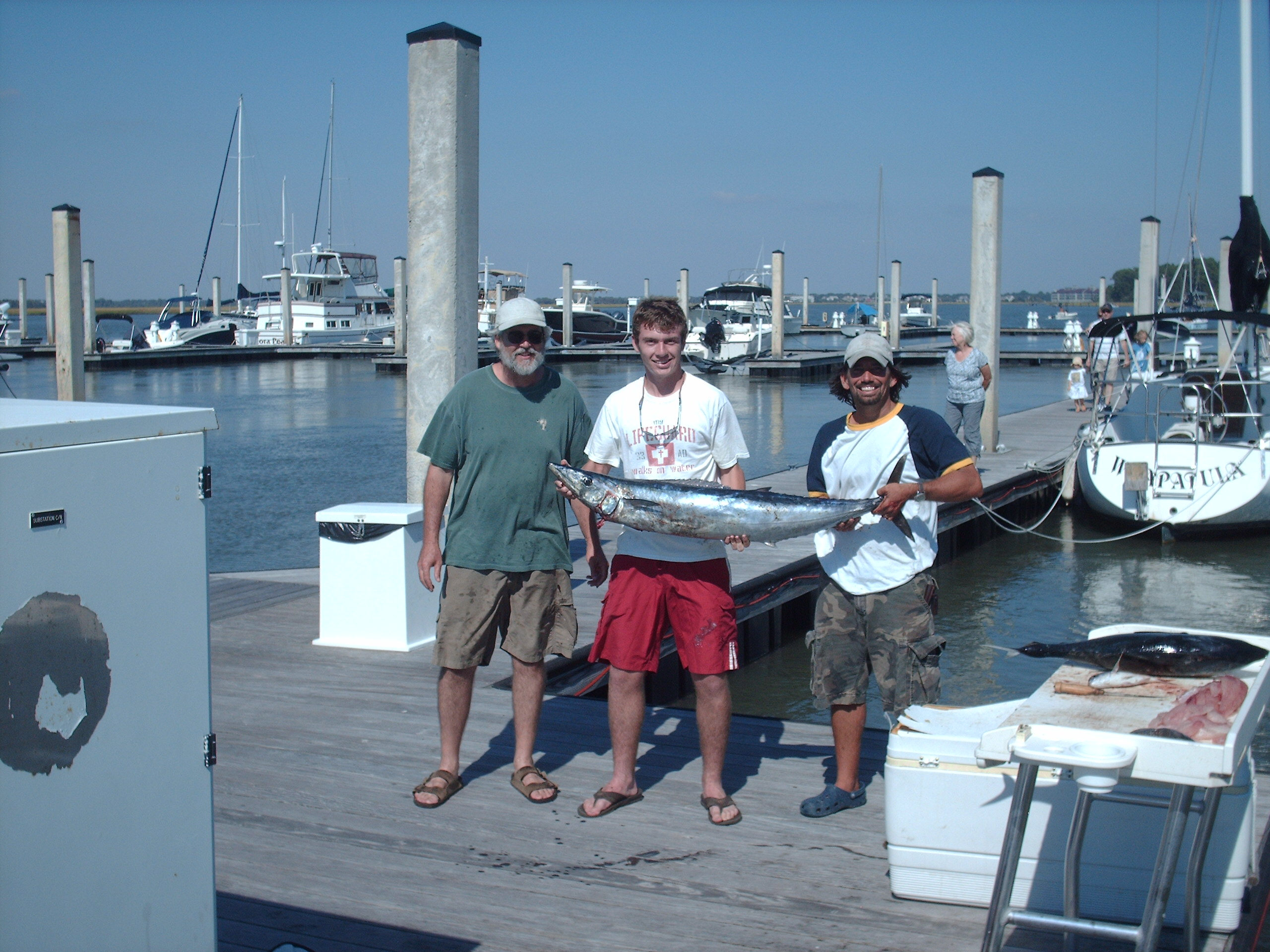 Dad, me, and Capt. Greg with wahoo (10-9-10)