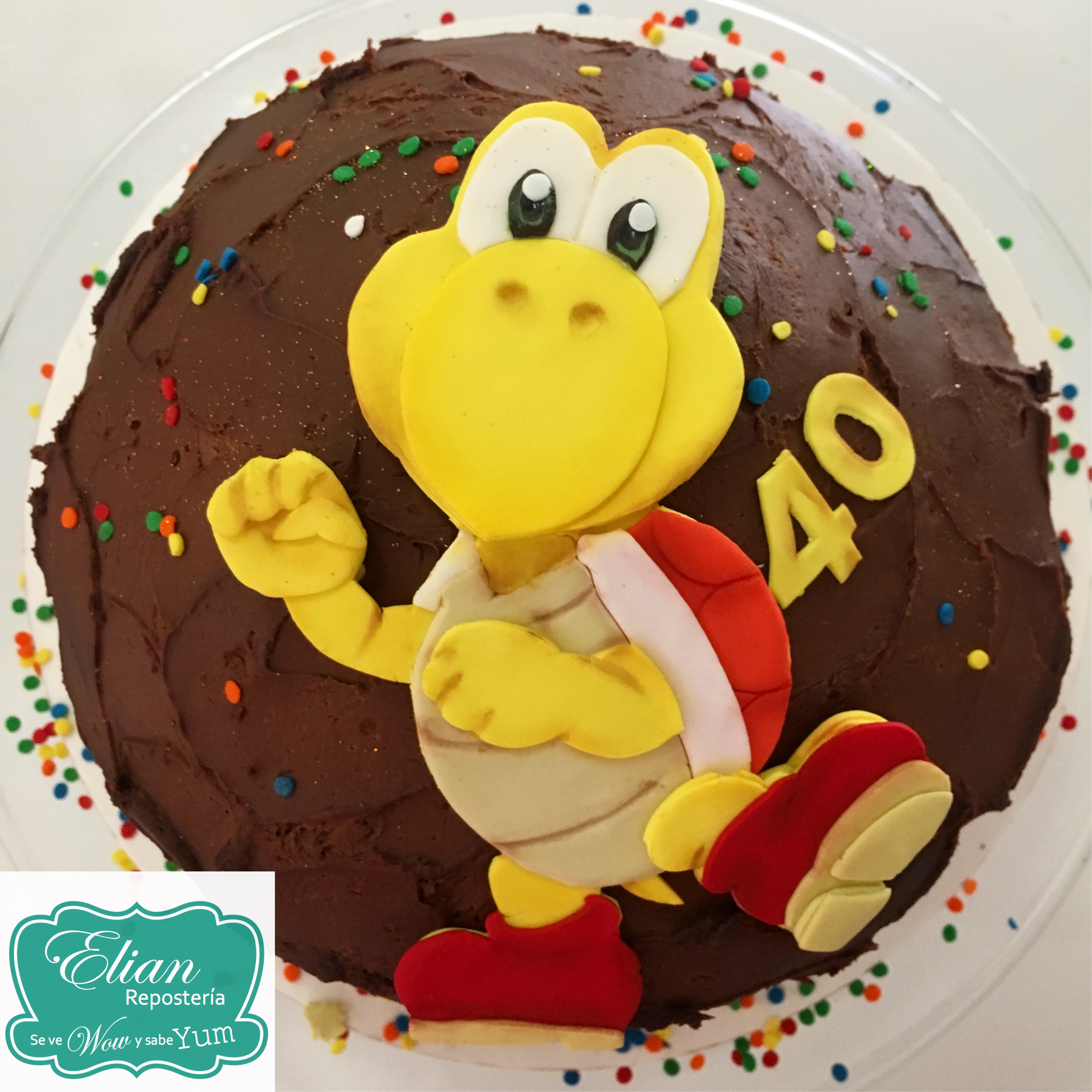 Koopa Troopa cake