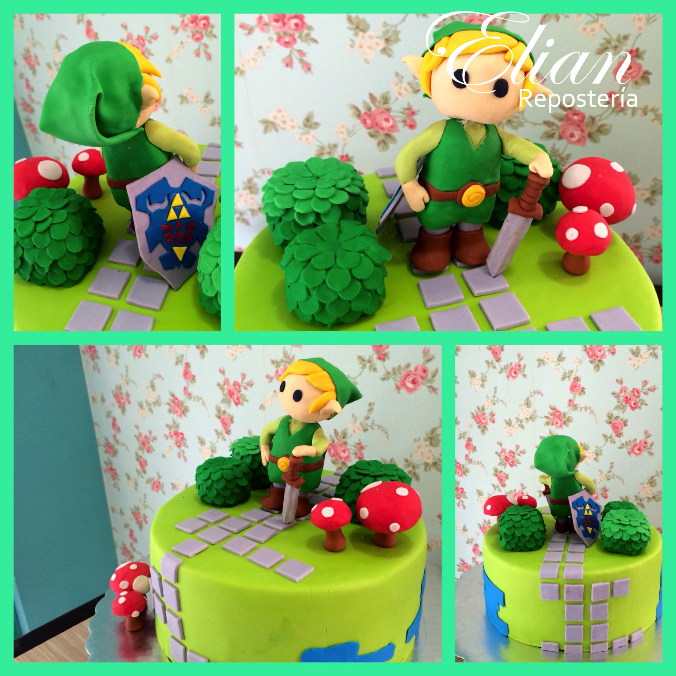 Pastel de Zelda fondant