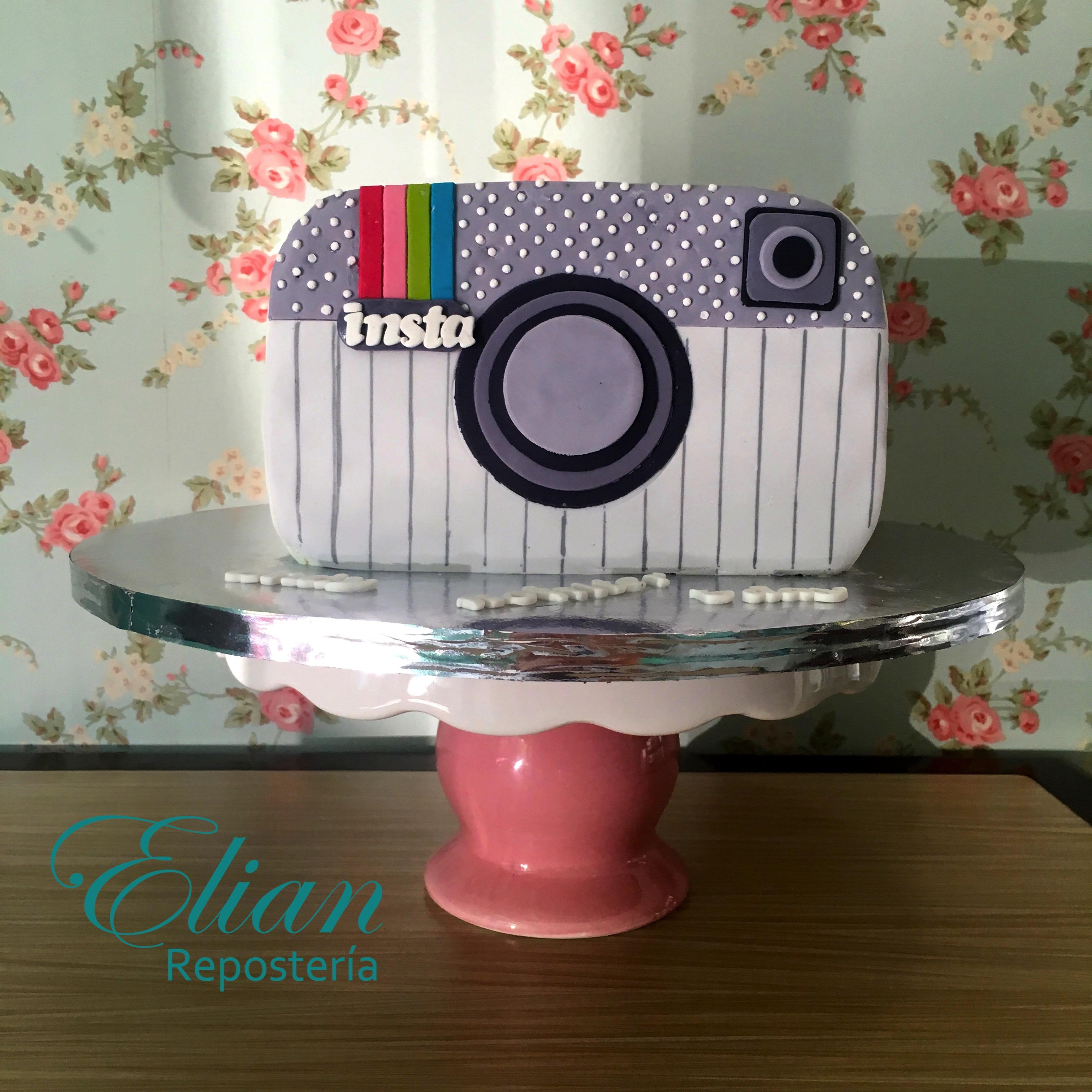 Pastel de instagram de fondant