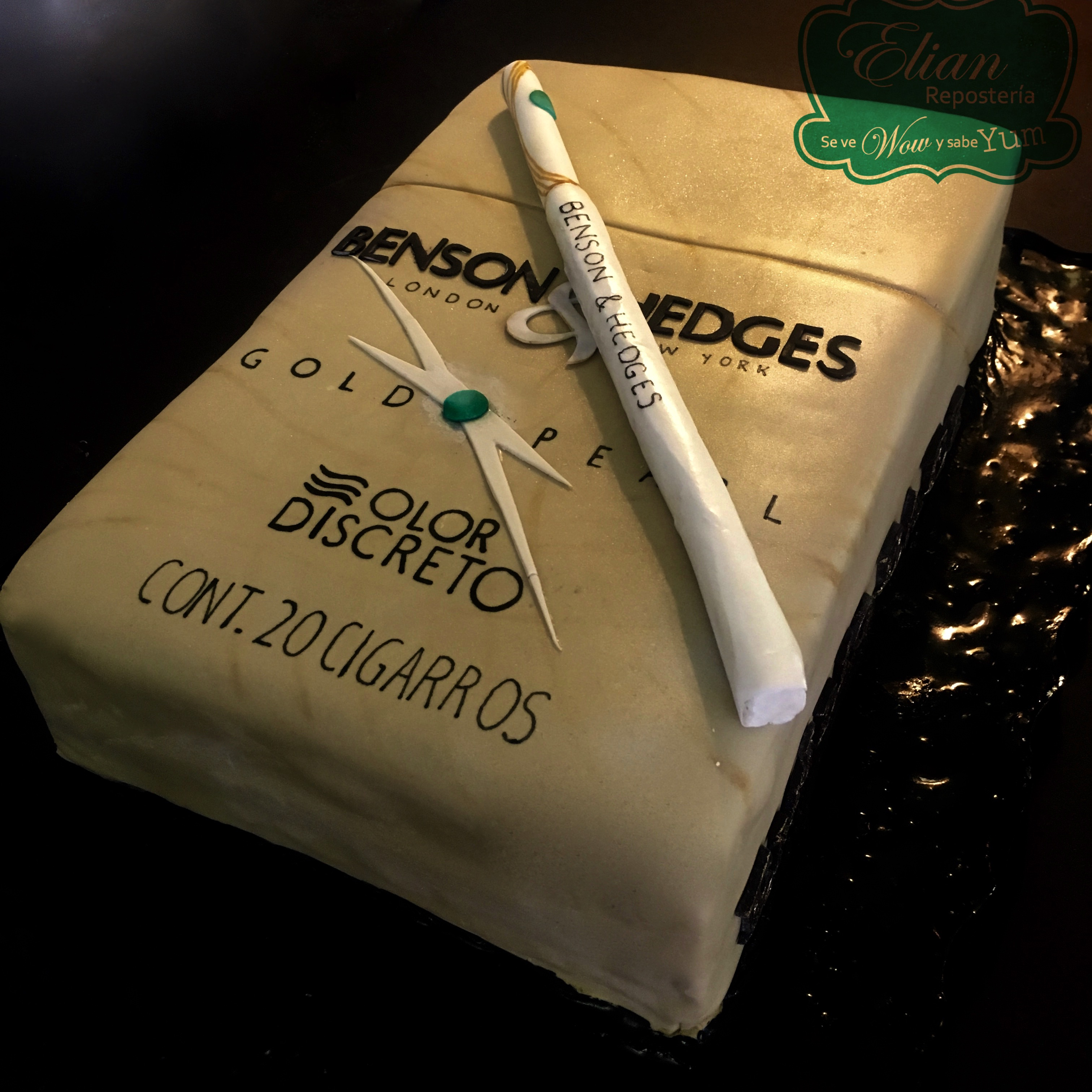 Cajetilla de cigarros pastel