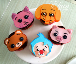 Cupcakes Plim slim fondant