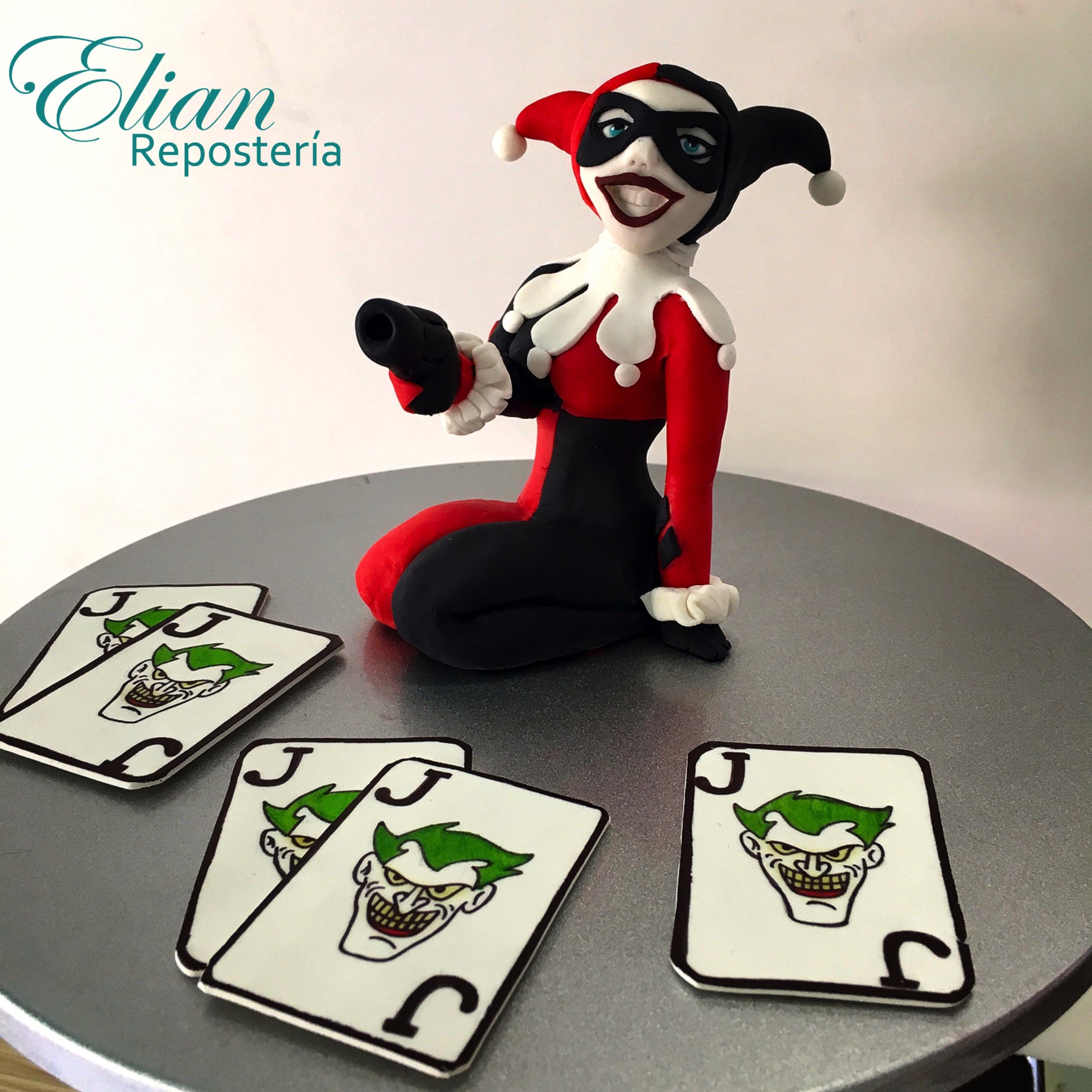 Cake topper Harley Quinn