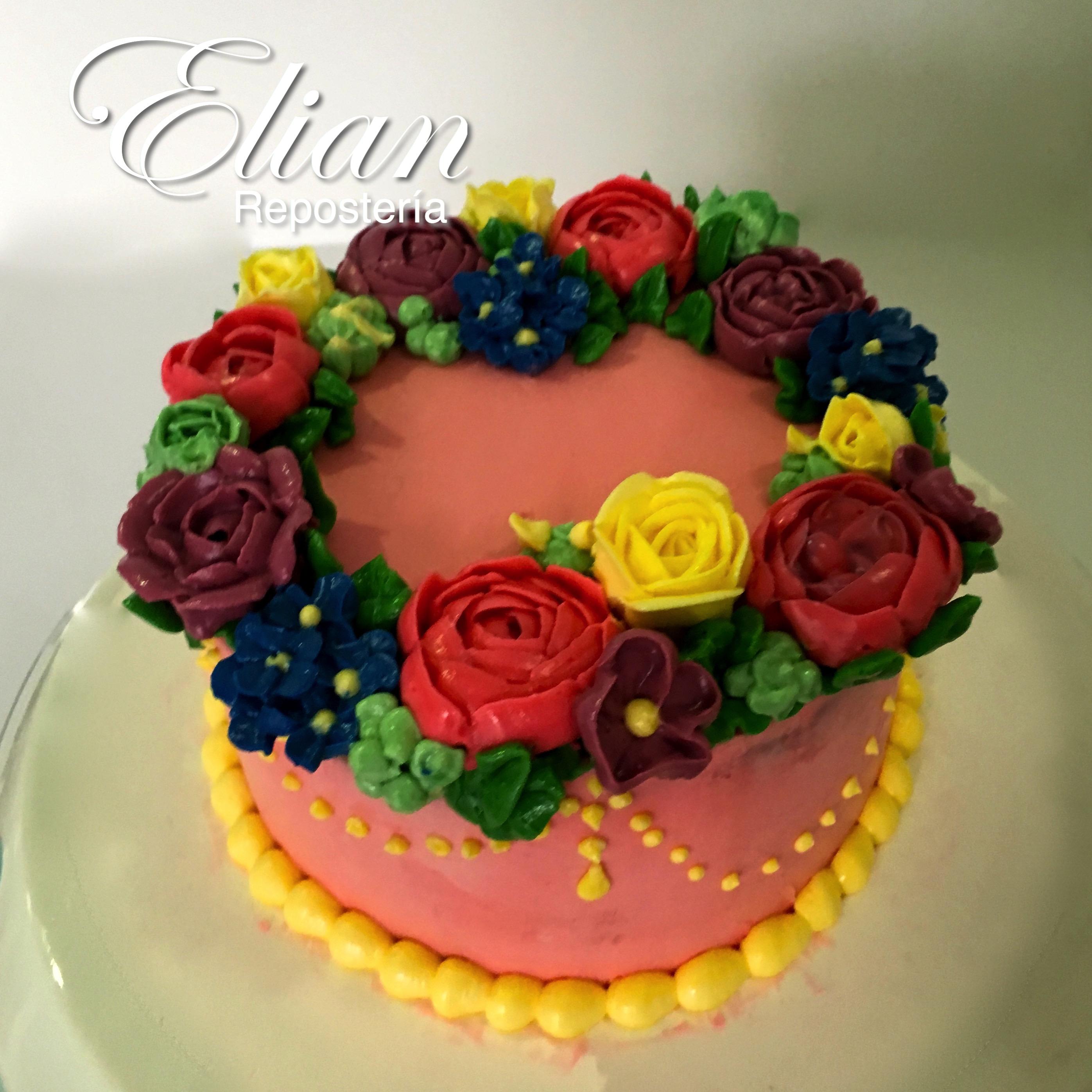Mini Pastel de flores
