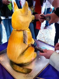 Cake fondant 3D Dog