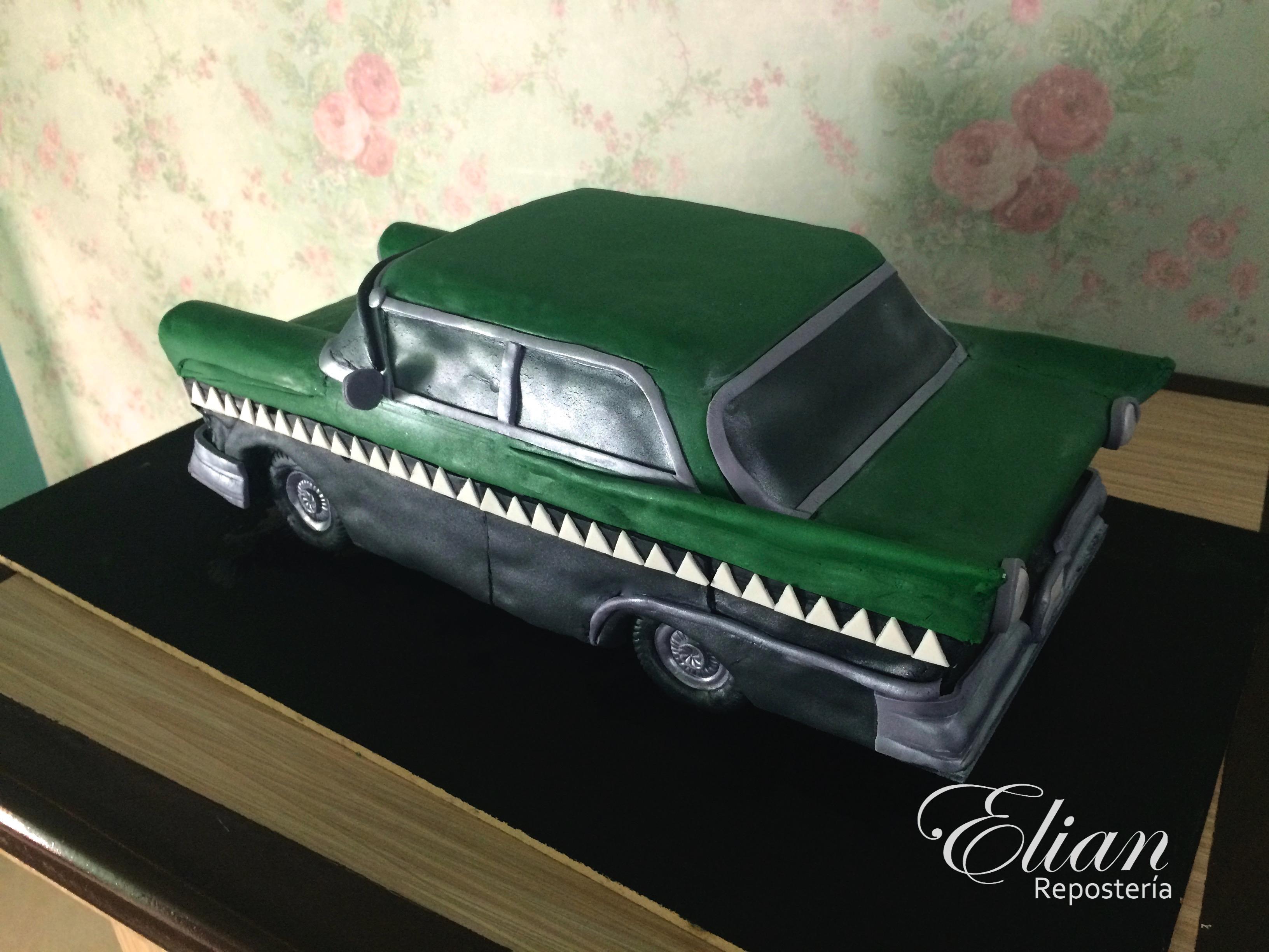 Taxi cocodrilo pastel 3D