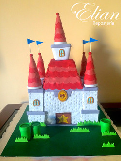 pastel de Mario Bross fondant