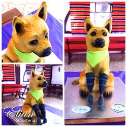 Pastel en 3D perro