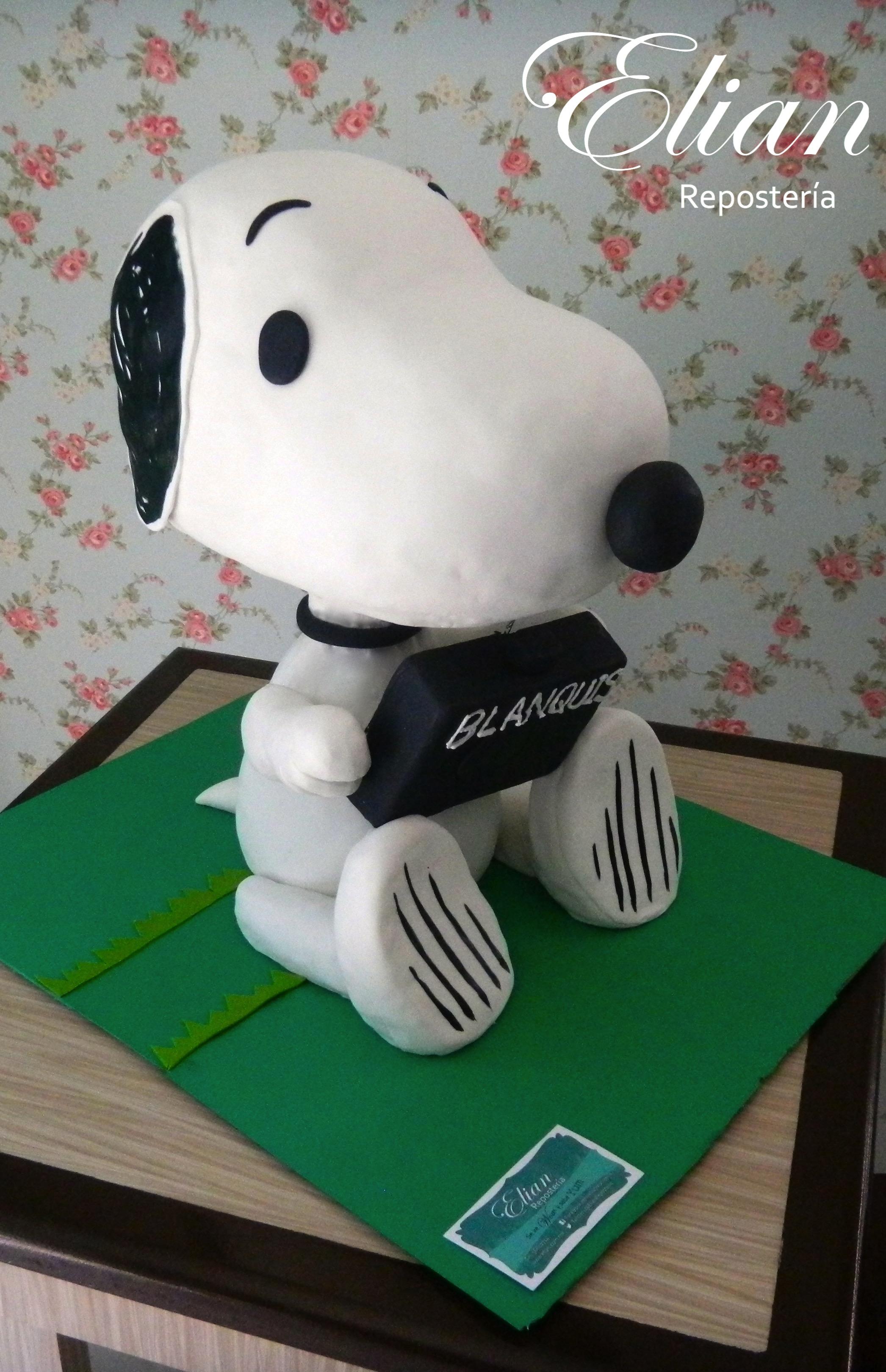 Snoopy 3D pastel de fondant