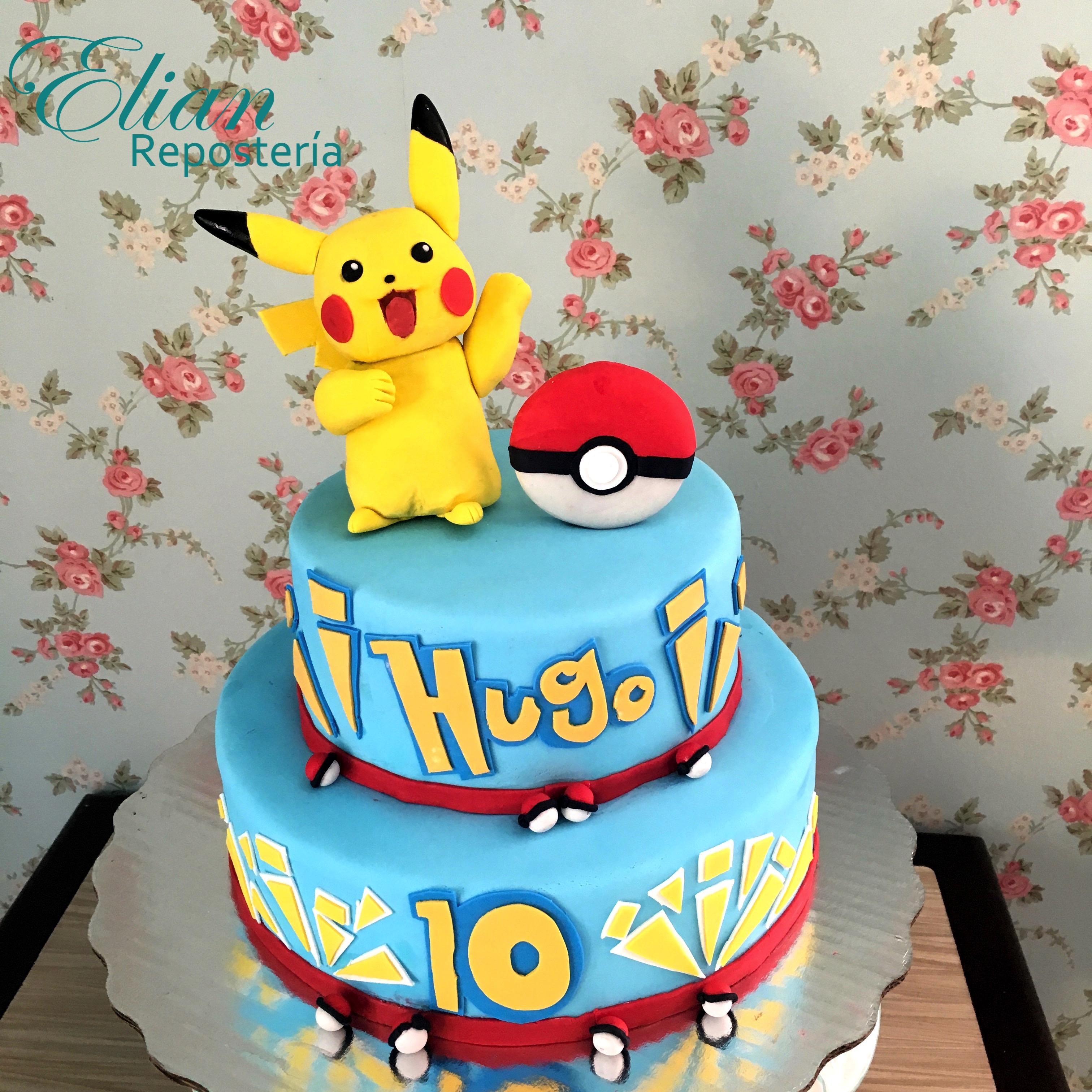 Pastel de Pikachu fondant mexico