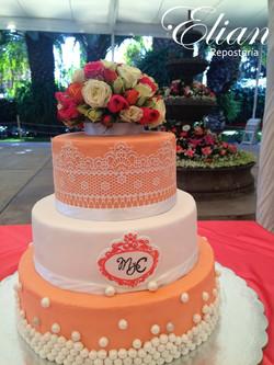 pastel de boda fondant mexico