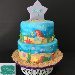 Sirenita Disney cake