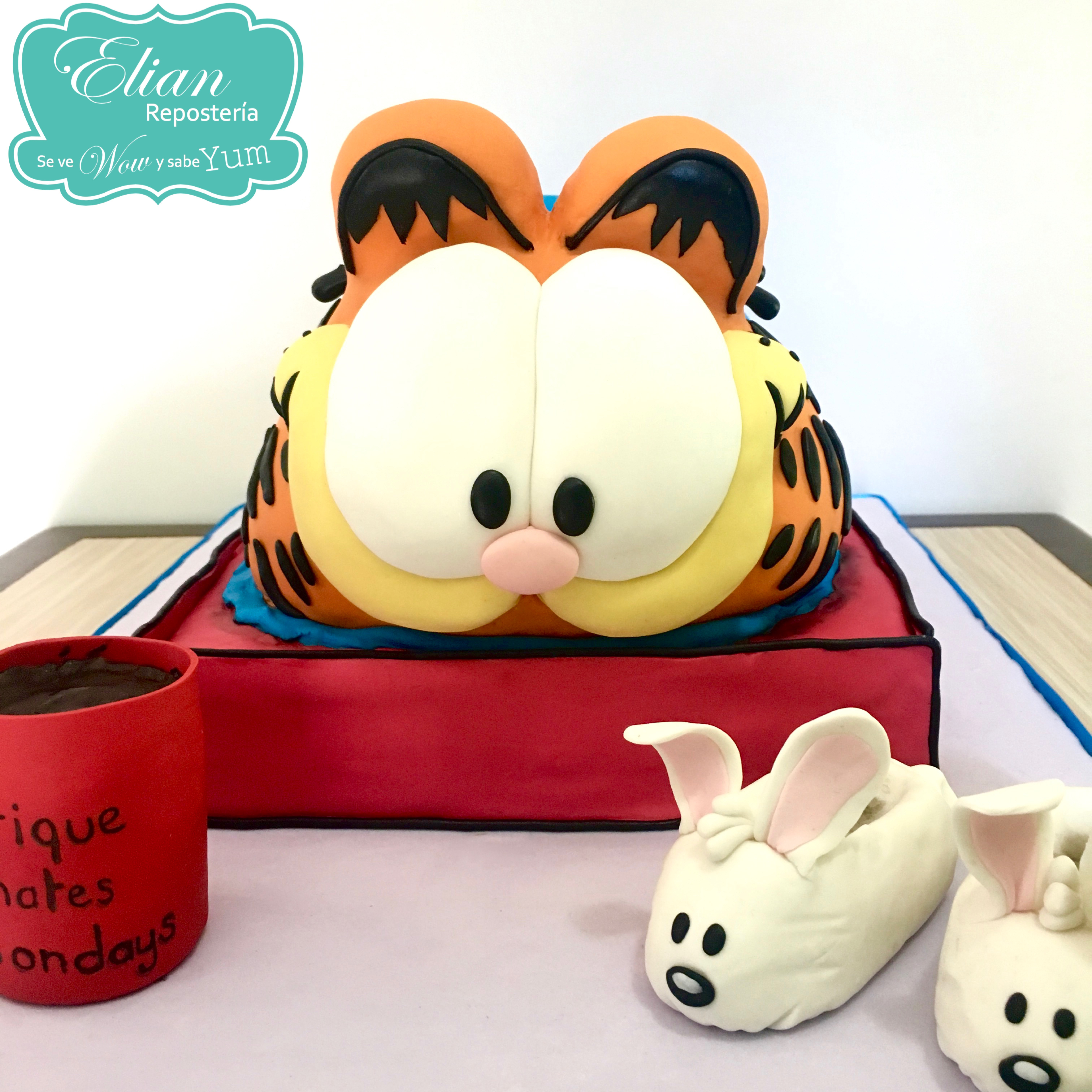 Garfield Pastel de Fondant