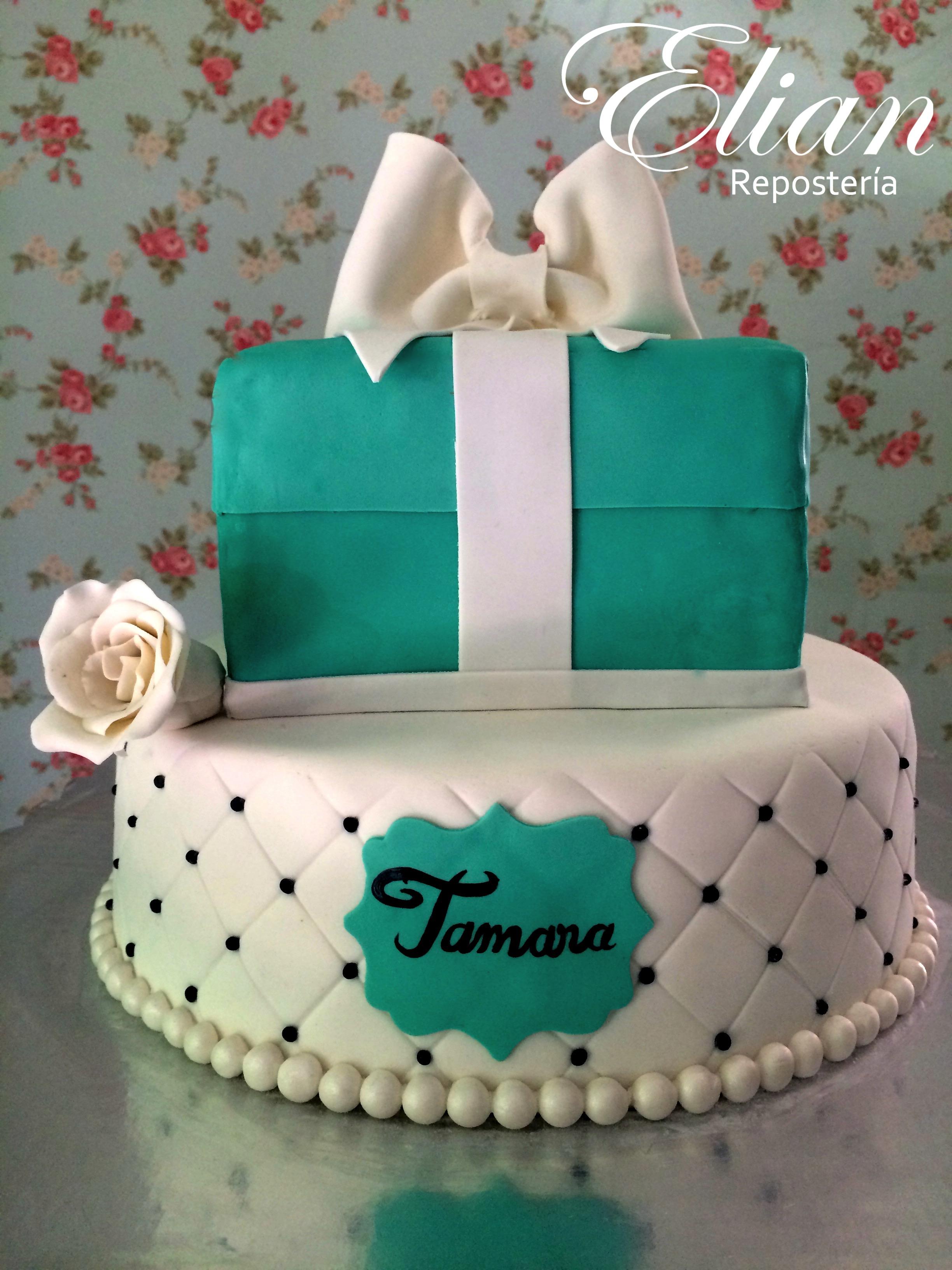 Pastel Tiffany fondant mexico