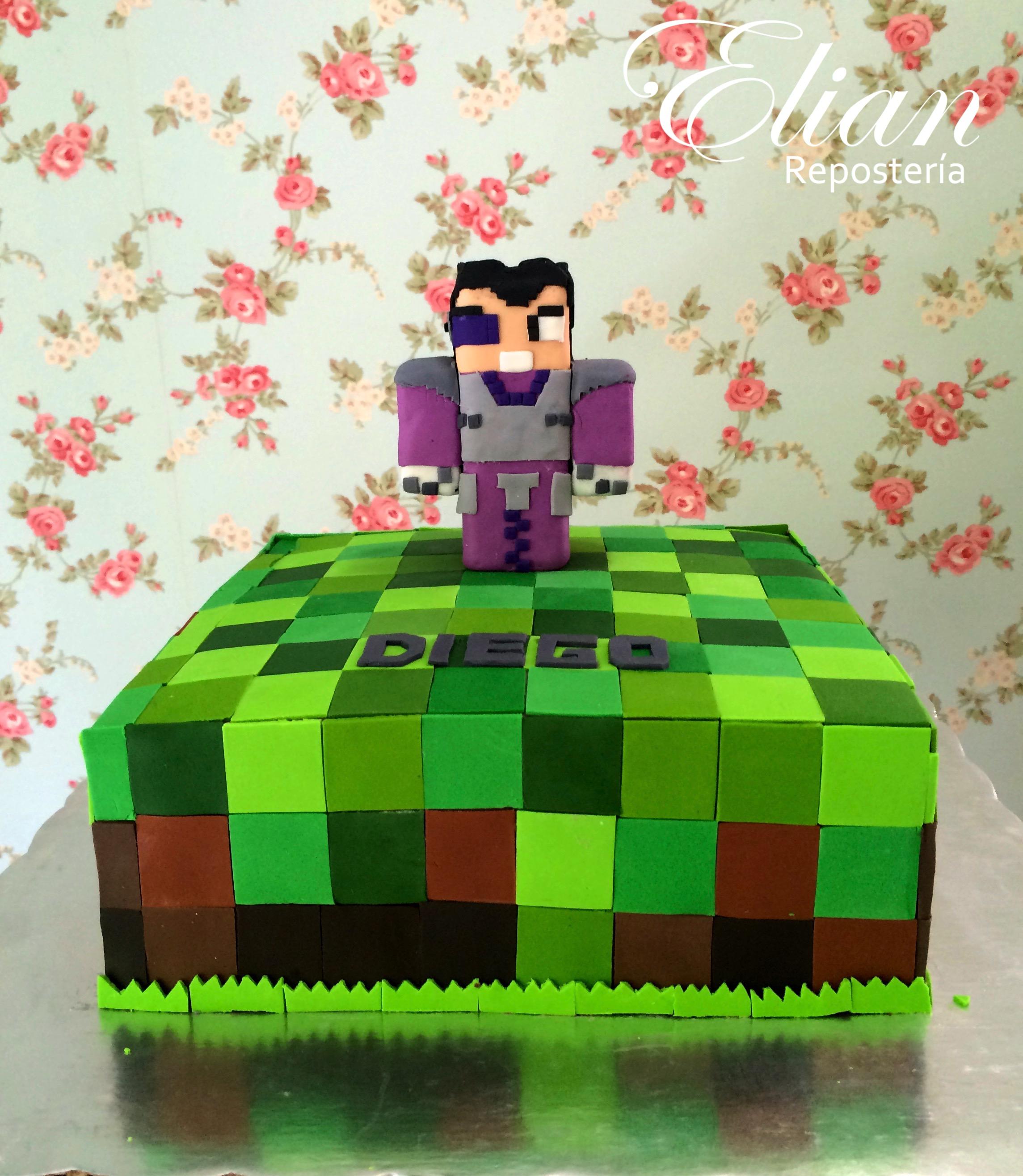 Pastel Minecraft fondant mexico