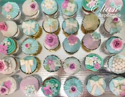 Cupcakes con flores fondant mexico