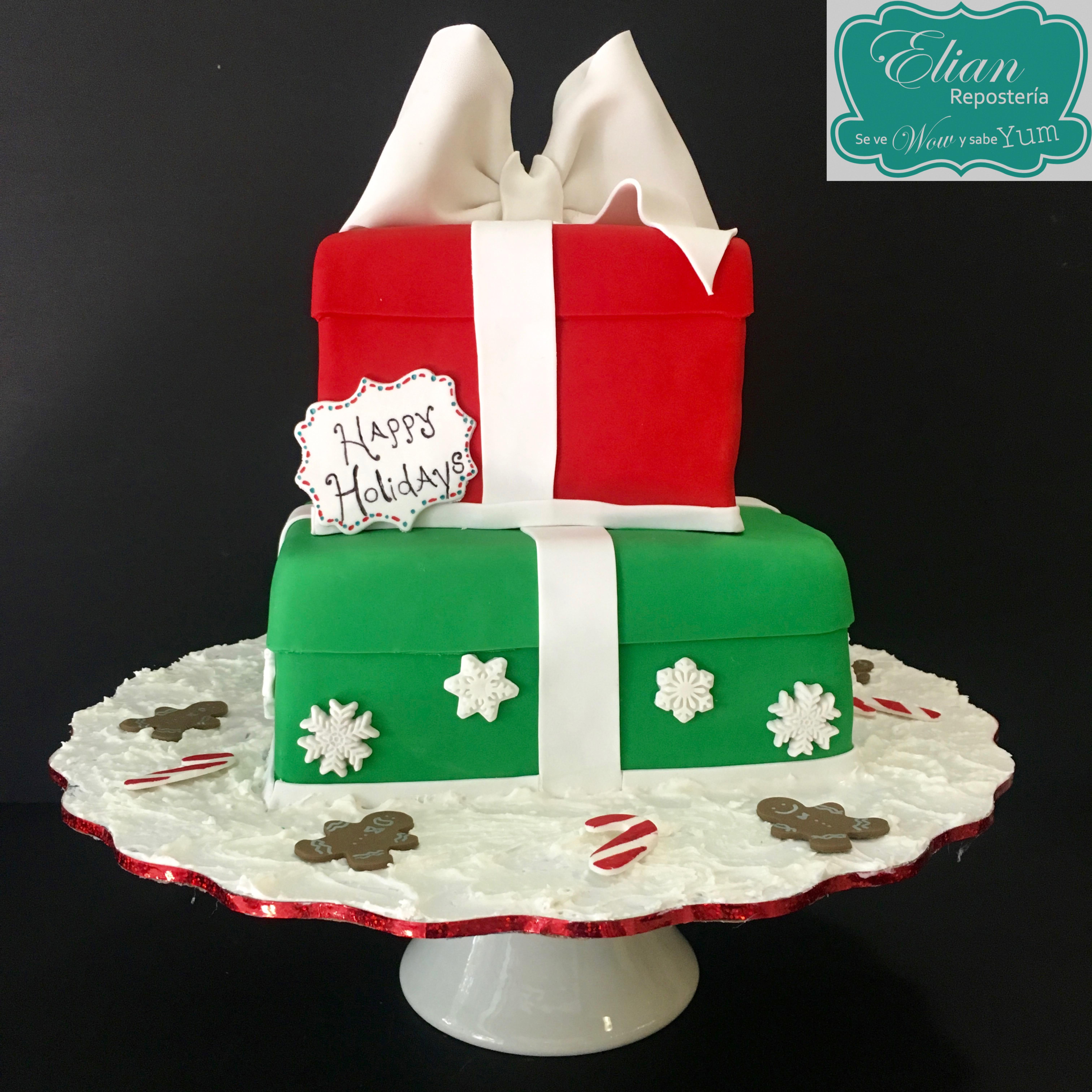Pastel navideño fondant