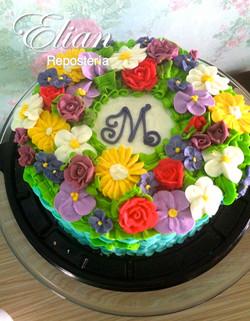 Pastel de Flores Personalizado
